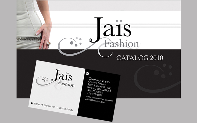 cover and business card design for Jias fasion cattaloge